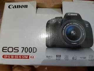 Jual camera eos 700D , jarang dipakai masih bagus