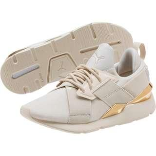 (PO) Exclusive Puma Womens Muse Metal Beige Gold