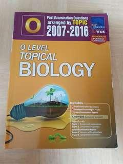 Olevel Topical Biology TYS 2007-2016