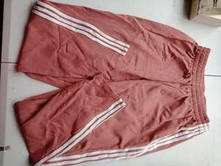 Jogging pants with stripes Salmon kfashion