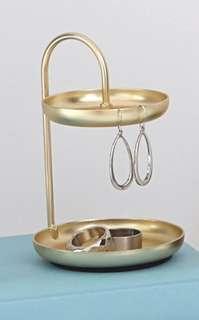 2 Tiered Ring DishHolder - Brass