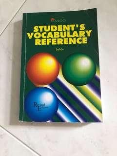 Students vocab reference