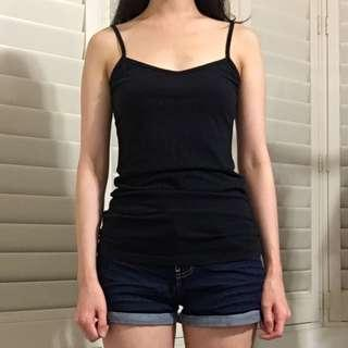 Supre size 8-10 Basic Black Tight Fitted Singlet