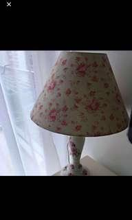 Victorian Table Lamp with Flower design