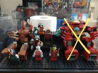 Lego Marvel Superheroes Guardians Of The Galaxy Lot, authentic and displayed only