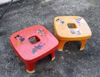 兒童卡通圖案塑膠矮凳—古物舊貨、早期生活用品收藏