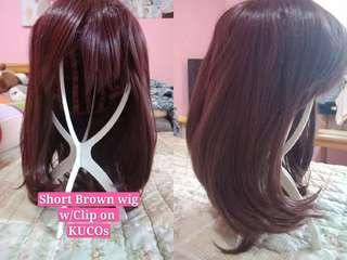 Short Brow wig with clipon