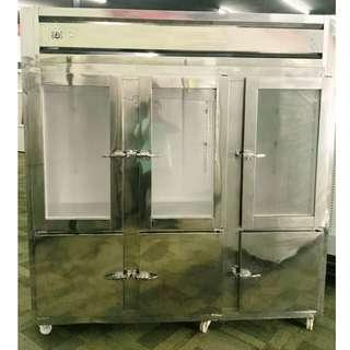 Stainless Steel Upright Chiller Freezer 6 door (Perfect Condition)
