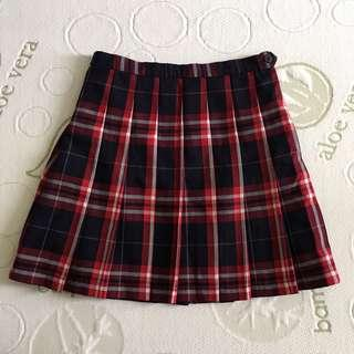 Size 8 Red And Black Tartan Pleated Tennis Skirt