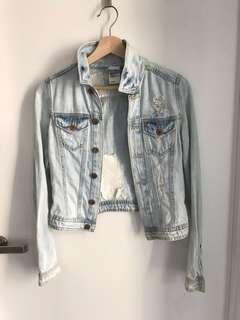 H&M ripped jacket