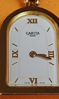Carita leather bracelet female Qz watch