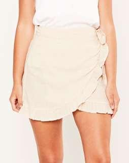 BRAND NEW glassons linen wrap skirt