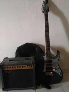 Gitar ibanez gio sekali amp