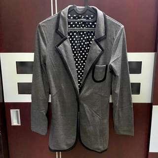 colorbox blazer jas abu lis hitam PUPUwear