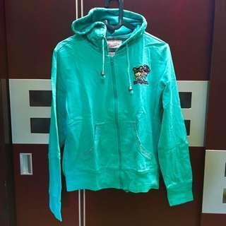 Ninety degrees jaket hoodie hijau tosca PUPUwear
