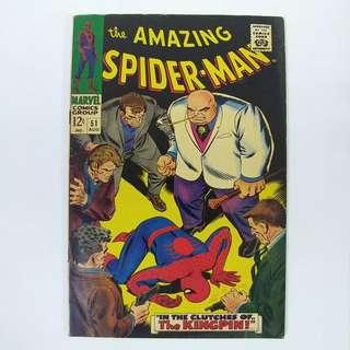 amazing Spider-Man #51(1967)  Key! 2nd appearance of Kingpin - Stan Lee story - Marvel Comics / Silver Age