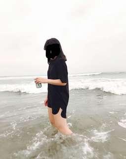 🚚 黑色長版oversize上衣💩