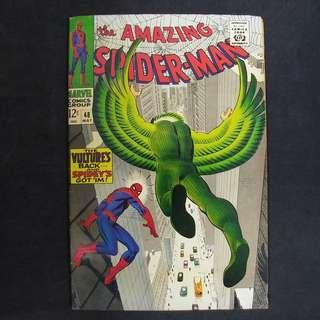 amazing Spider-Man #48(1967) Stan Lee story, 1st appearance of New Vulture - Marvel Comics / Silver Age
