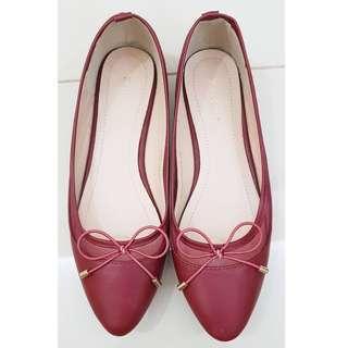 Zalora classic ballerina flat red