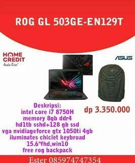 Laptop ROG GL506GE-EN129T Credit Cepat 3menit