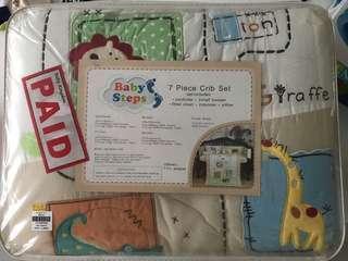 Brand new 7 piece crib set