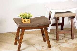In stock -Simple Small Solid And Durable Wooden Shoe Stool