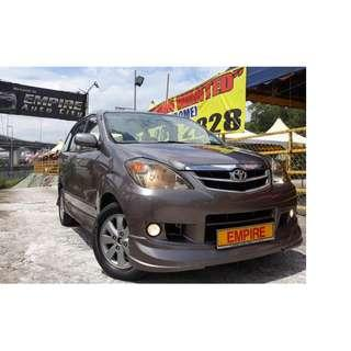 TOYOTA AVANZA 1.5G ( A ) DOHC 16V EFI VVT-I !! NEW FACELIFT !! PREMIUM HIGH SPECS !! G EDITION THAT COMES WITH FULL BODYKIT AND SPOILER !! ( WXX 955 ) 1 CAREFUL OWNER !!