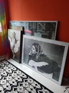 Large frames with iconic pictures