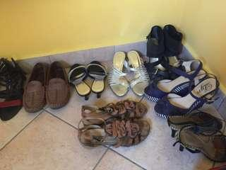 Shoe collection size 39, starting from rm15. Some like new.
