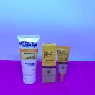 Belo Sunexpert Perfecting Shield Tinted Sunscreen 10ml & Celeteque Sun Care Matte Moisturizer 50ml