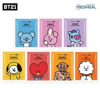 [Pre-Order] BT21 Mediheal Point Mask (All Character Available)