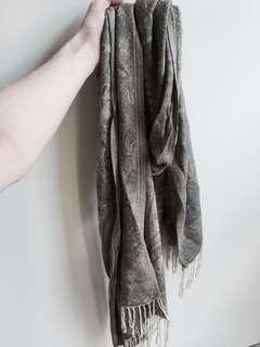 Silk scarf wrap