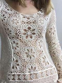 Beach crochet style top