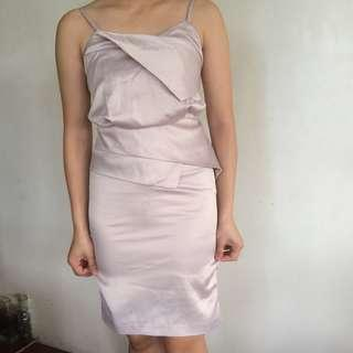 Silk pink formal dress