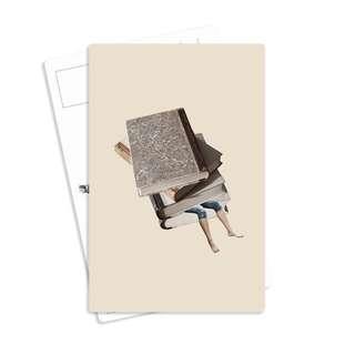 🚚 Vintage Postcard - Kindle Bookworm