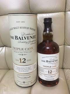The Balvenie triple Cask 12 Year Old 1L WHISKY 威士忌
