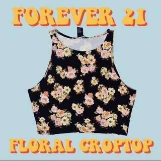 Forever 21 Black Crop Top
