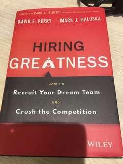 Hiring greatness book - human resource book