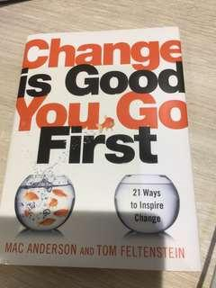 Change is good you go first - human resource book