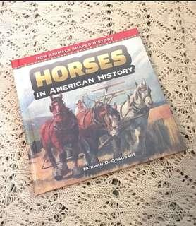 Horses in American History Children's Book Hardcover