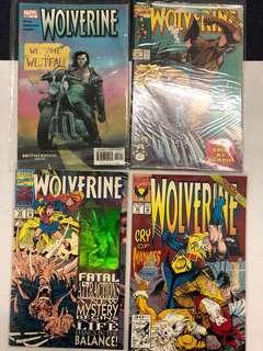 Wolverine comic lot