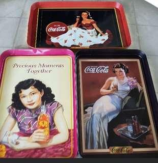Coca-Cola & F&N Vintage Metal Serving Trays. Brand New Fraser & Neave And Coca-Cola Classic Good Ol' Days Metal Serving Trays.