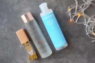 Skincars bundle: eyecream, toner, serum/essence