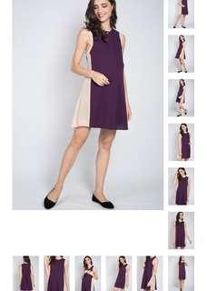 BNWT Jump Eat Cry Violet Contrast Nursing Dress