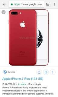 Free Delivery To Door Iphone 7Plus 128GB Jet Black