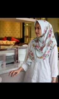 Vanilla Hijab Jasmine Heaven Lights Hermes Silk - COPY