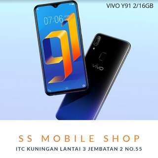 VIVO Y91 Smartphone - Starry Black [16GB/ 2GB] Bunga 0%