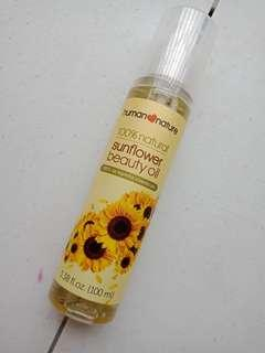 Sunflower beauty oil human nature