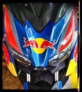Yamaha Xmax 300. Decal Wrap. Red Bull.