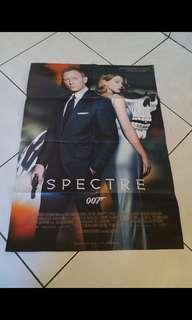 Dekorasi pajangan hiasan poster james bond spectre 007